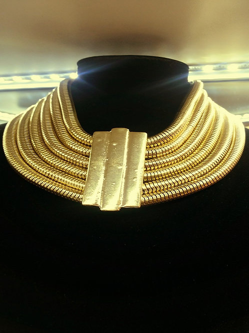 Chunky Tribal layered Statement Necklace
