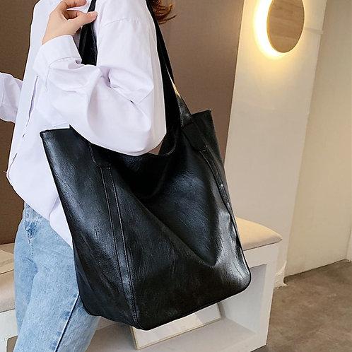 Large Vintage High Quality PU Leather Shoulder Bag