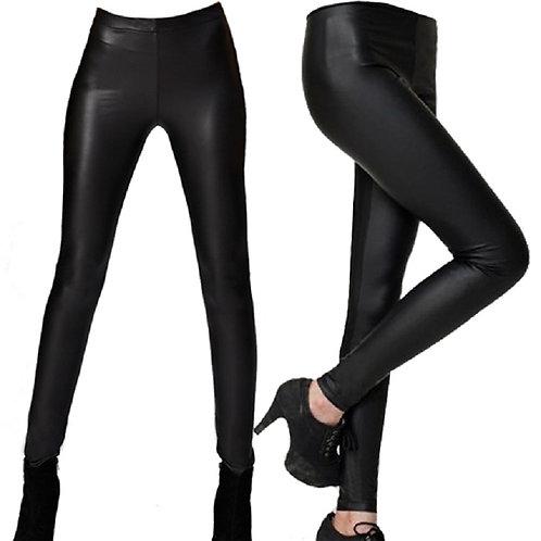 Ankle Leather-like Skinny Pencil Leggings