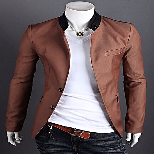 Single-Breasted Men's Stylish Coat