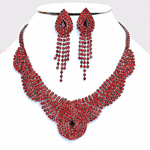 Monarch Rhinestone Bib Necklace