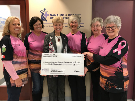 2018 Donation to Nanaimo & District Hospital Foundation