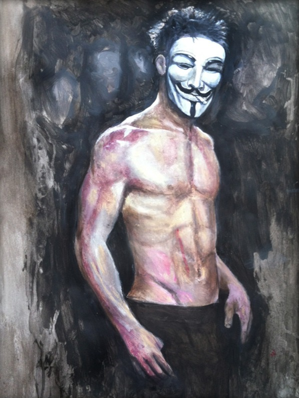 Tyler Durden as Anonymous%20framed