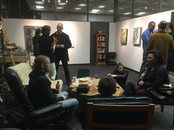 Chatting in the 1120 studio artwalk