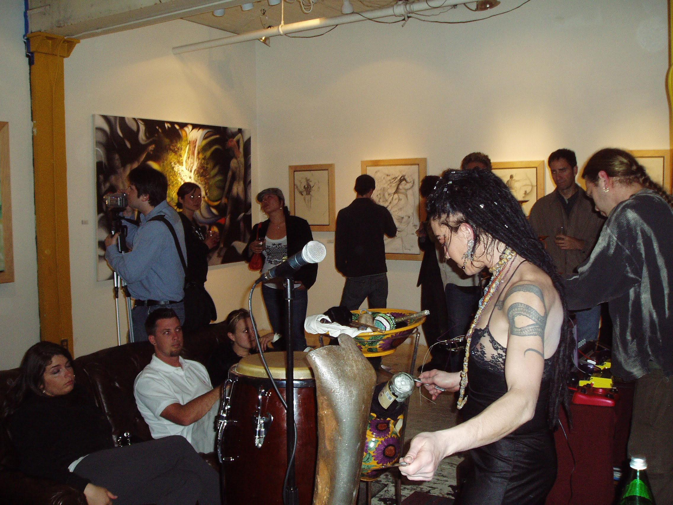 619 Studio with In The Deep Museum 2006