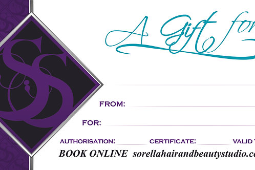 GIFT VOUCHERS from $20-$400