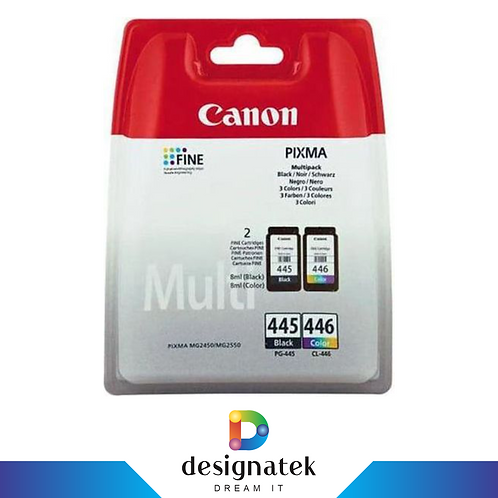 Canon PG-445 and CL-446 Black and Colour Ink Cartridge Multipack