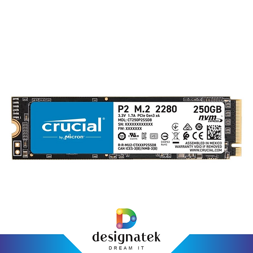 Crucial P2 M.2 NVME 250GB SSD