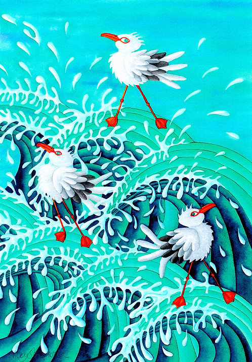 'Seagulls Surf II' By Nicky Stevenson