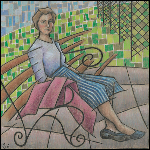 'Woman On Park Bench' By Ceri Staples