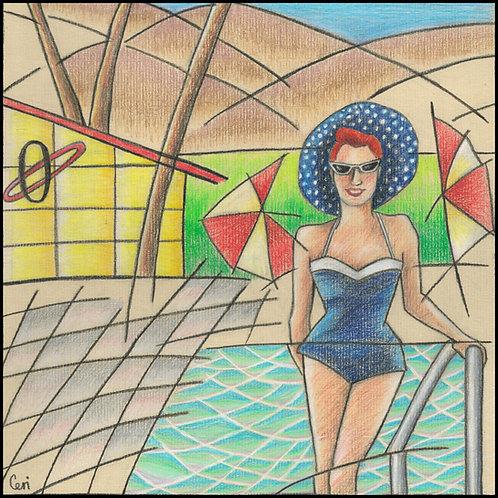 'Palm Springs '55' By Ceri Staples
