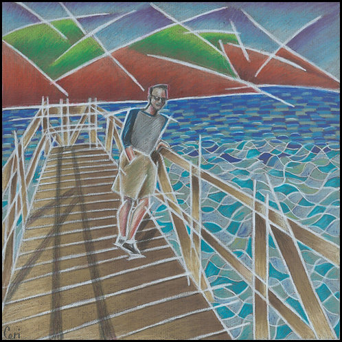 'Standing On The Jetty' By Ceri Staples