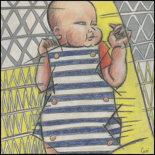 'Baby In Stripes' By Ceri Staples