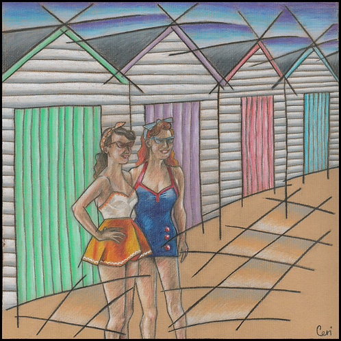 'Pastel Beach Huts' By Ceri Staples