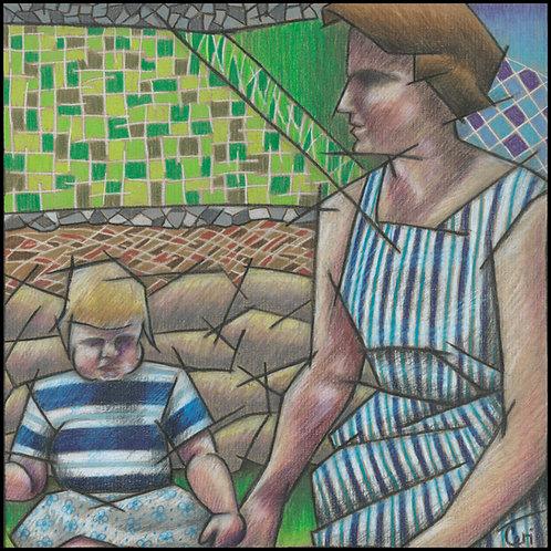 'Mother & Baby In Garden' By Ceri Staples