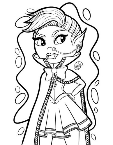 Vampire Girl with punk hair