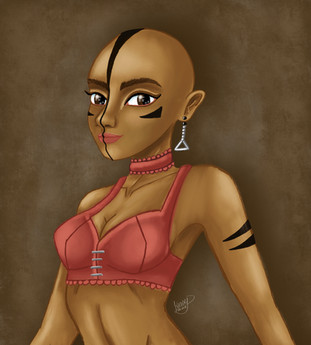 Digital Painting on Photoshop of a Character Idea