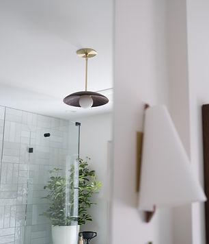 Bespoke lighting in historic bathroom revovation by j miller interiors