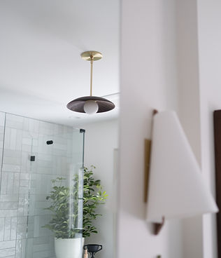 Bespoke lighting in historic bathroom revovation by j miller interiors
