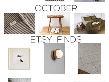 OCTOBER ETSY FINDS
