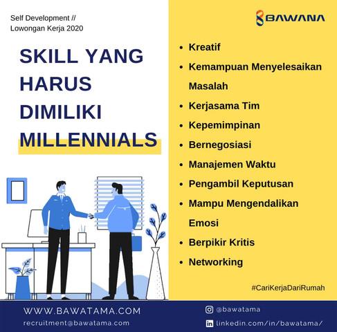 skill yang harus dimiliki millennials