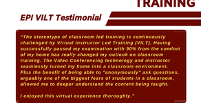 WHAT THEY SAY ABOUT EPI VIRTUAL TRAINING