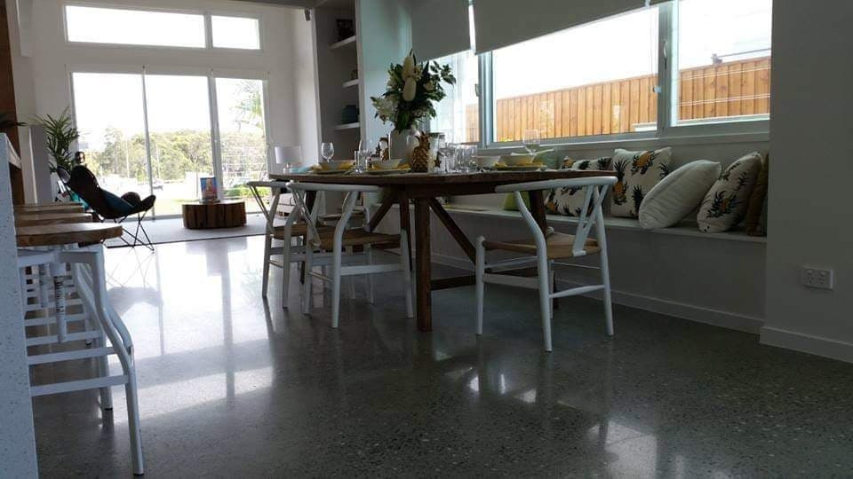 Superfloor australia polished concrete satin finish brisbane
