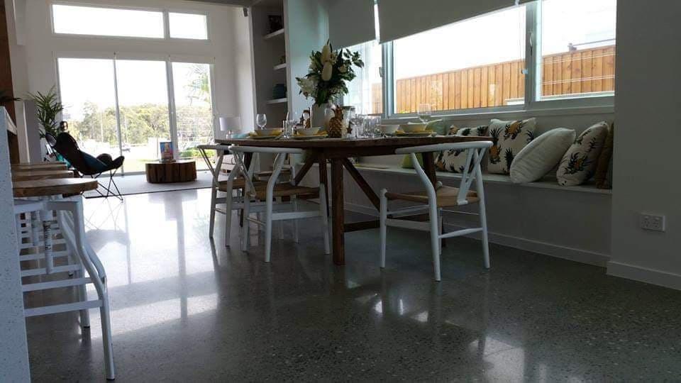 Superfloor australia polished concrete satin finish brisbane