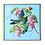 Thumbnail: Fancy Blue Botantical Decoupage Bird Wall Hanging
