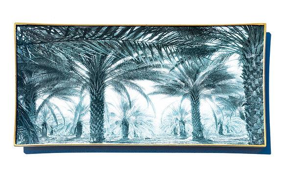 Coachella Date Palms glass tray