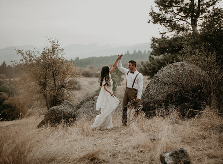 Montana Fall Boho Inspired Styled Elopement - Little Smith Creek Ranch