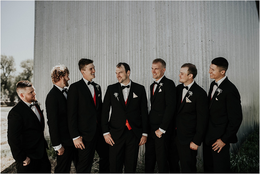 groom with groomsmen Crazy Mountains | Dejong Wedding in front of the mountains Big Timber, MT | Katy Shay Photo; Missoula, Montana photographer
