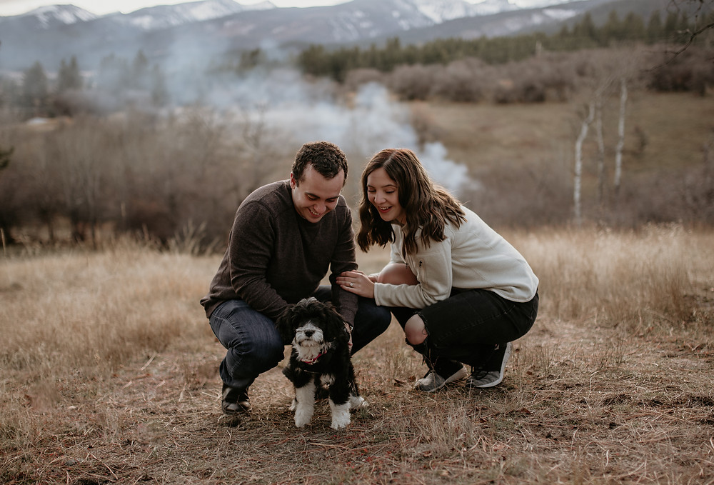 boho, dirt road, love, intimate engagements, missoula photographer, montana photographer, little smith creek ranch, katy shay photo, rustic, montana engagement, bozeman photographer, puppy