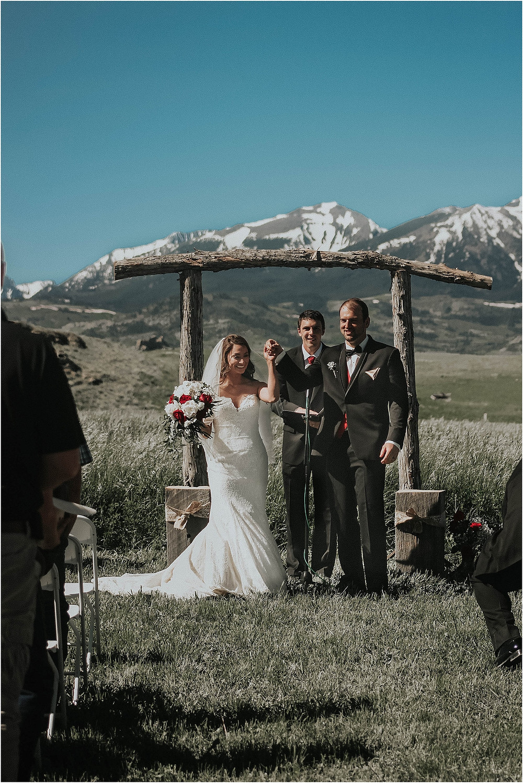 middle of the day wedding Crazy Mountains | Dejong Wedding in front of the mountains Big Timber, MT | Katy Shay Photo; Missoula, Montana photographer