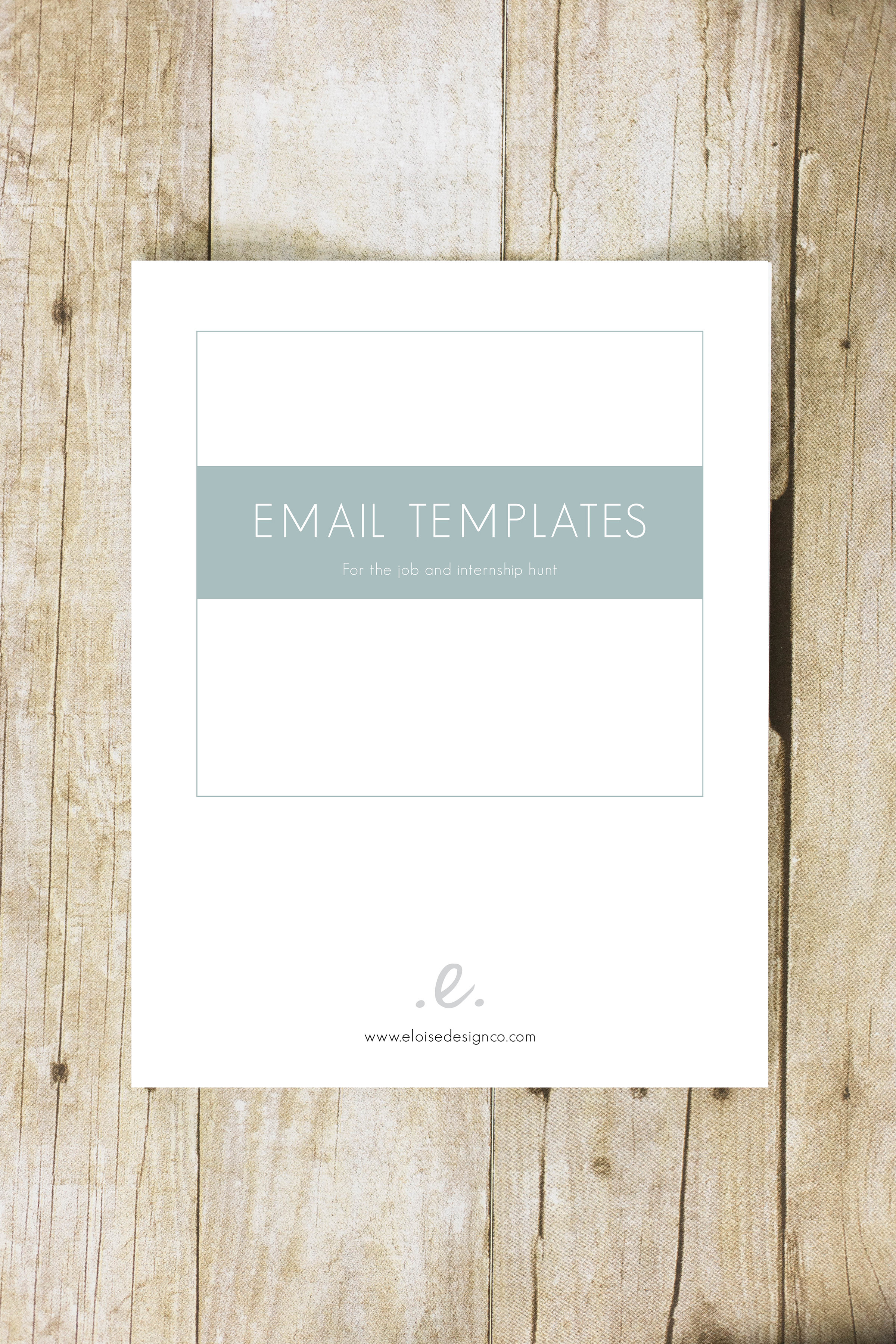 Job Hunt Email Template