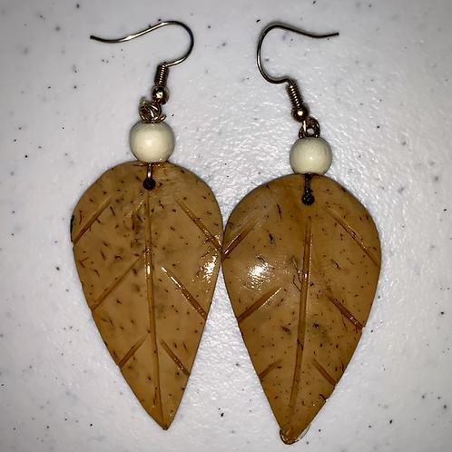 Tan Feather Earrings