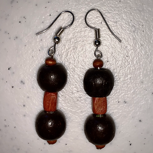 Black & Brown Earrings