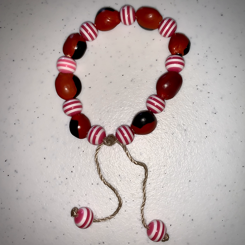 Red Striped Bracelet