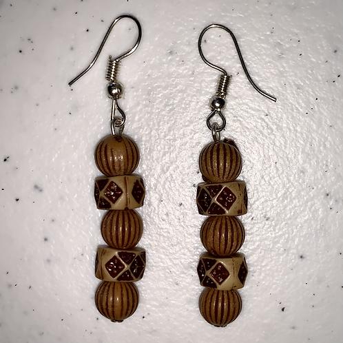 Brown Geometric Earrings