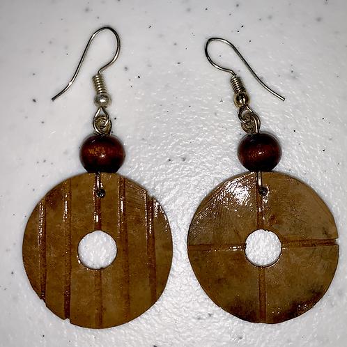 Brown Donut Earrings