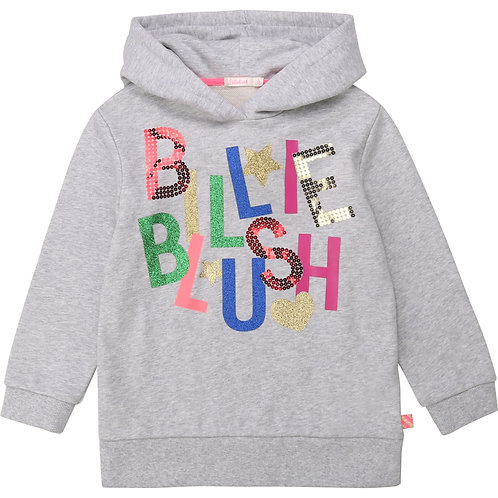 Sweat capuche gris Billieblush