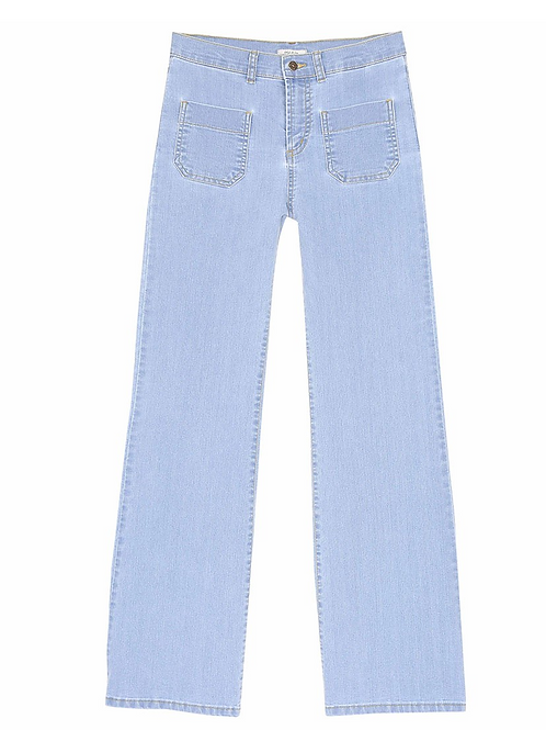 Pantalon denim bleach Emile et Ida