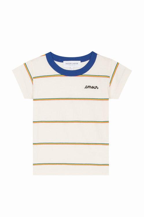 T-shirt rayé amour Maison Labiche