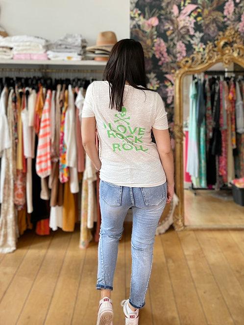 T-shirt Rock Lin vert Banditas