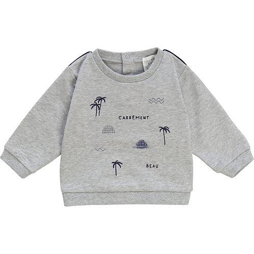 Sweat-shirt bébé Palmier Carrément Beau