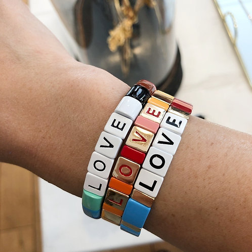 Bracelet Love arc-en-ciel