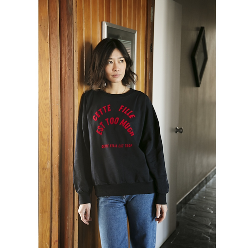 Sweat shirt fille too much femme Hundred Pieces