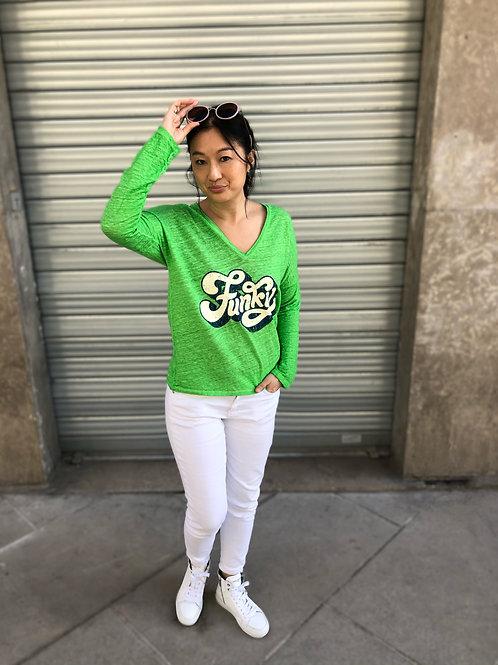 T-shirt Funky vert Banditas