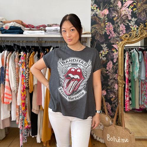 T-shirt Mouth gris antracite Banditas