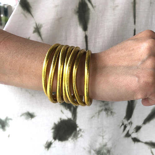 Bracelets bouddhistes véritables en or